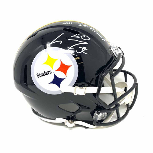 Larry Foote Autographed Pittsburgh Steelers Full Size Replica Speed Helmet with 2X SB Champs