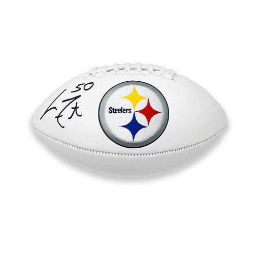 Larry Foote Autographed Pittsburgh Steelers White Logo Football