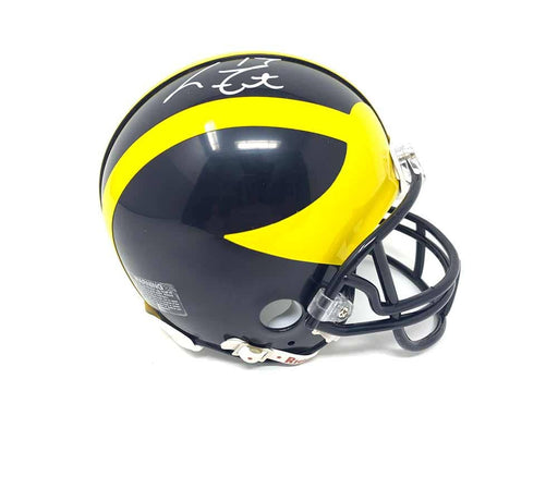 Larry Foote Autographed Riddell Michigan Mini Helmet