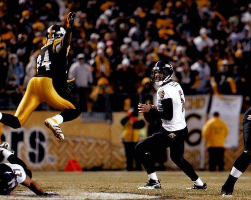 Lawrence Timmons in Black Jumping at Flacco Unsigned 8x10 Photo
