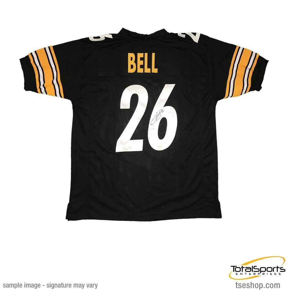 104316b1c Signed STEELERS Jerseys Le Veon Bell Autographed Black  26 Custom Jersey