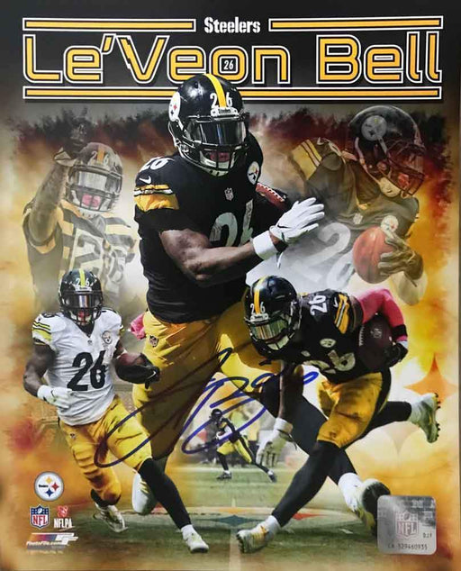 Le'Veon Bell SIGNED Collage 8x10 Photo