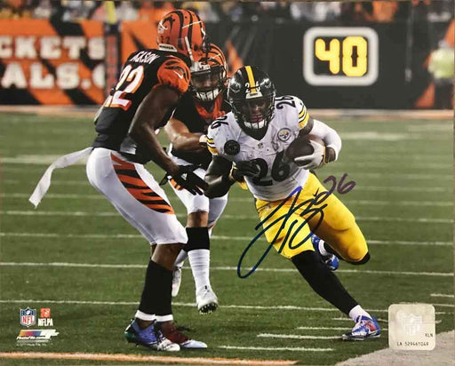 Le'Veon Bell SIGNED Running by Sidelines 8x10 Photo