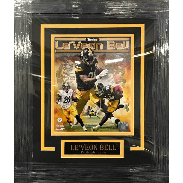 Le'Veon Bell UNSIGNED Professionally Framed Collage 8x10 Photo