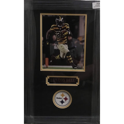 LeVeon Bell in Bumble Bee Jers. 8x10 Unsigned - Professionally Framed