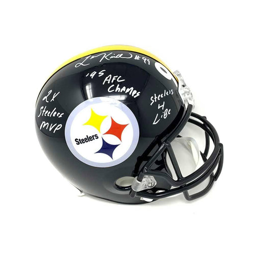 Levon Kirkland Autographed Pittsburgh Steelers Black Fs Replica Helmet With Multiple Inscriptions