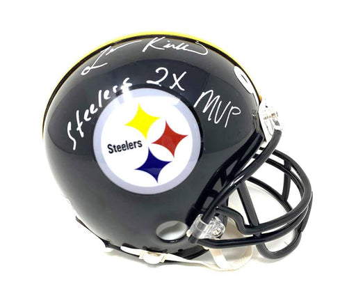 Levon Kirkland Autographed Pittsburgh Steelers Black Mini Helmet with Steelers 2X MVP