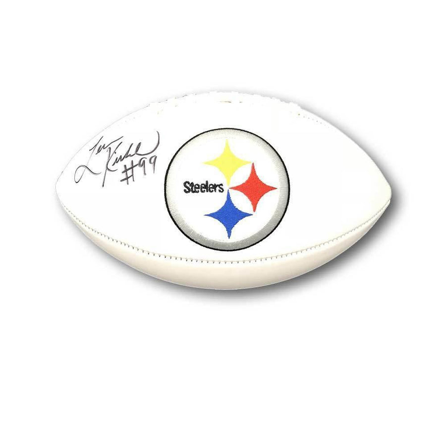 Levon Kirkland Autographed Pittsburgh Steelers White Logo Football