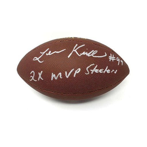 Levon Kirkland Autographed Replica Football with 2X MVP Steelers