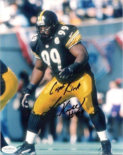 Levon Kirkland Signed Ready in Black 8X10 Photo with Capt Kirk