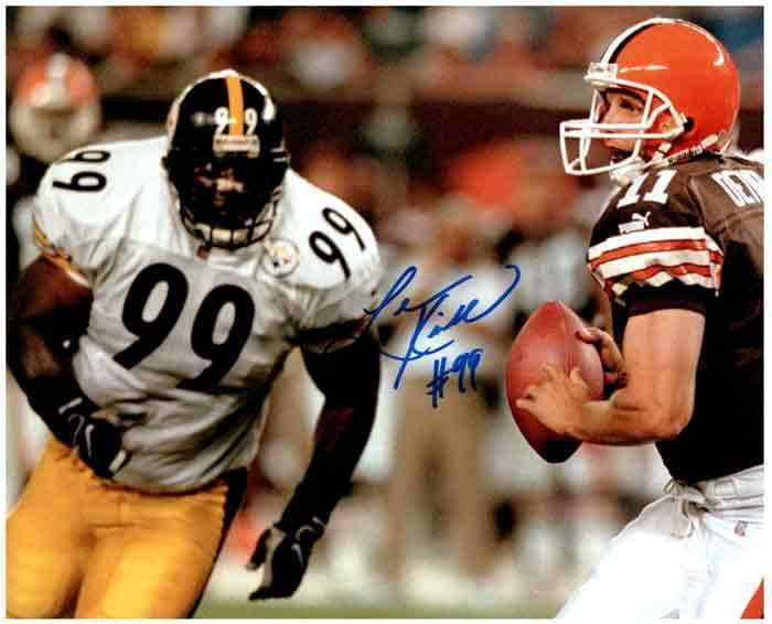 Levon Kirkland Signed Running After Browns 8x10 Photo