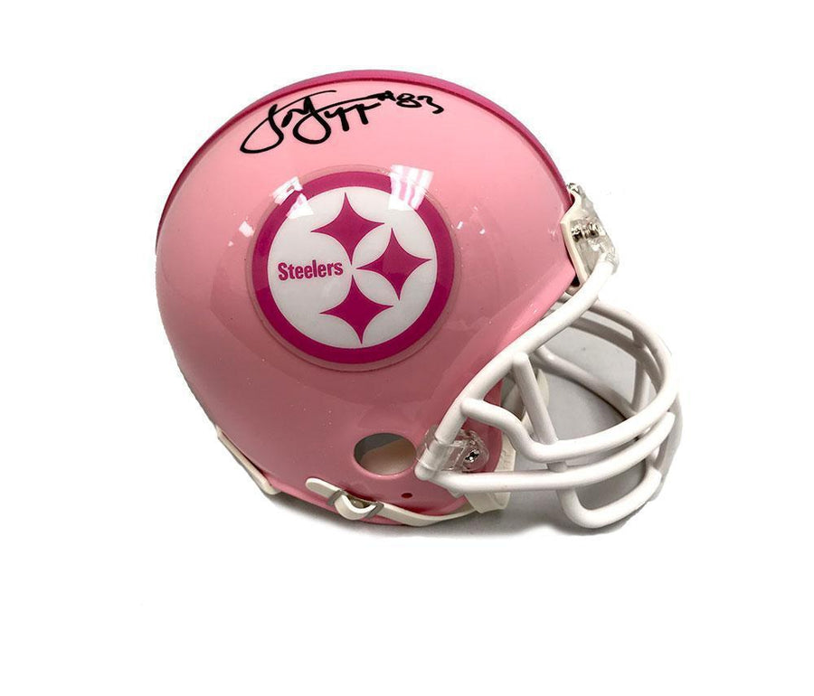 Louis Lipps Autographed Pittsburgh Steelers Pink Mini Helmet