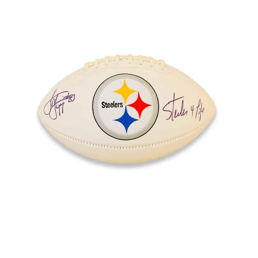 Louis Lipps Autographed Pittsburgh Steelers White Logo Football with Steelers 4 Life