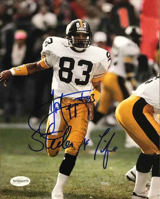 Louis Lipps Autographed Running in Motion 8x10 Photo with Steeler 4 Life