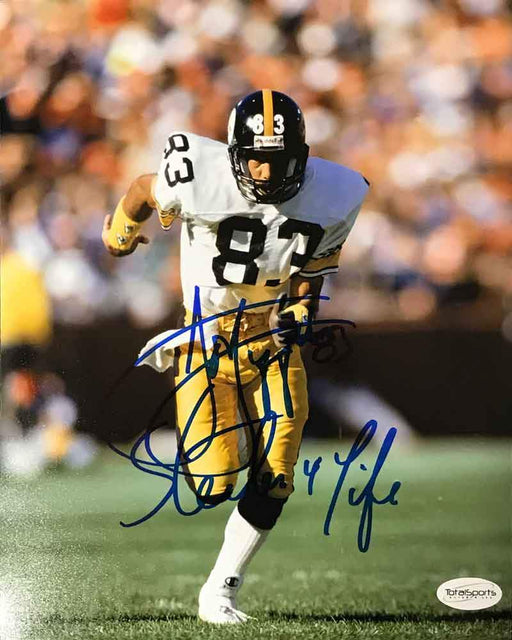 Louis Lipps Autographed Running in White 8x10 Photo with Steeler 4 Life