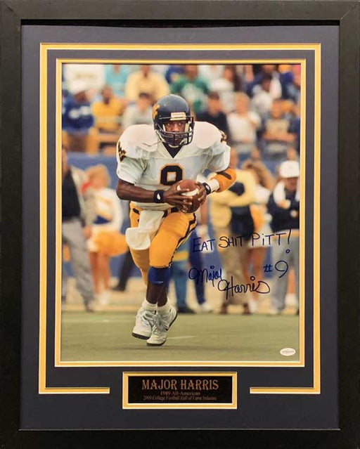 Major Harris Signed Running in White 16x20 Photo with Eat S*** Pitt Professionally Framed