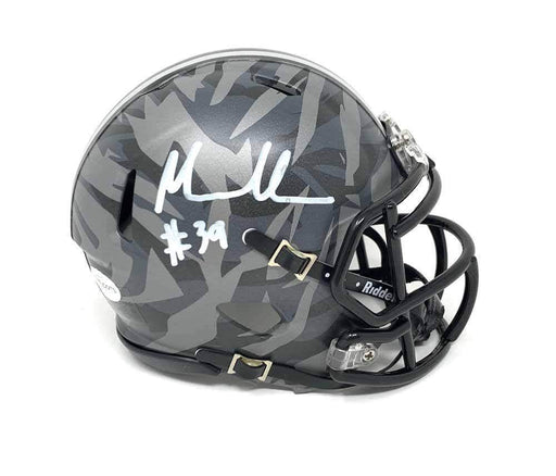 Malik Harrison Signed Ohio State CAMO SPEED Mini Helmet
