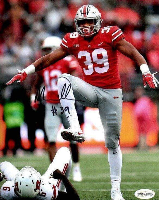 Malik Harrison Signed Stomping 16x20 Photo - DAMAGED