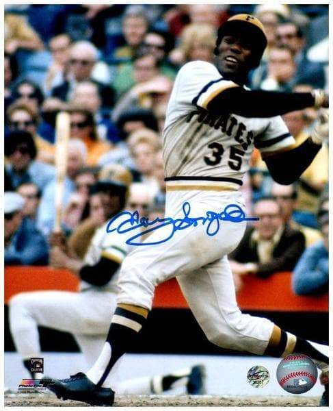 Signed PIRATES Photos Manny Sanguillen Signed Finishing Swing 8x10