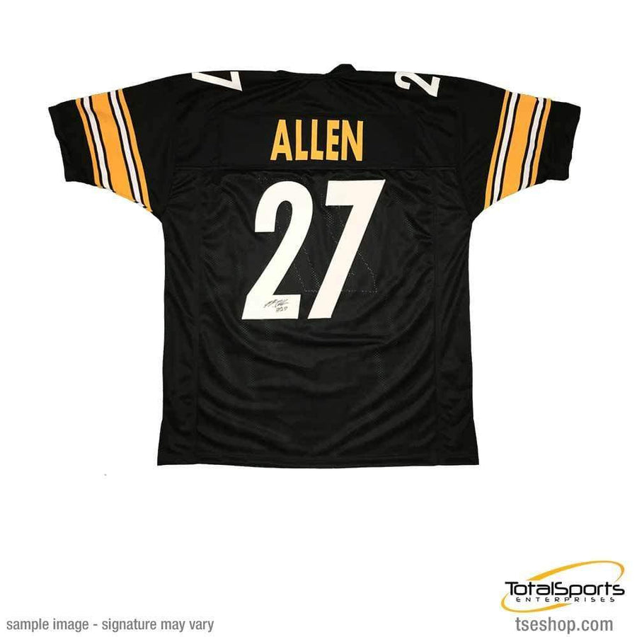 2c6525a1b Signed STEELERS Jerseys Marcus Allen Signed Custom Black Football Jersey