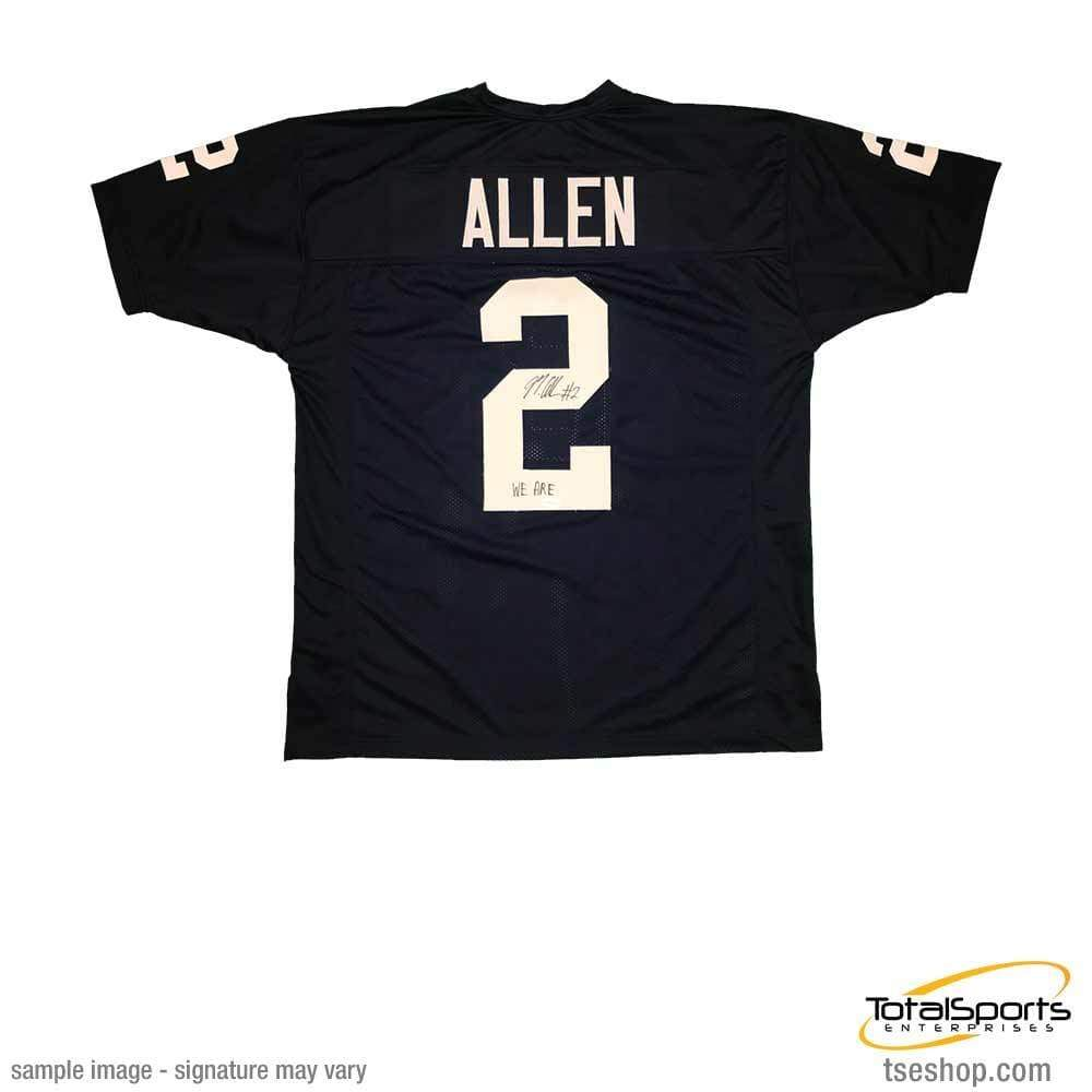 brand new b3bd2 84683 Marcus Allen Signed Custom Navy College Jersey with We Are