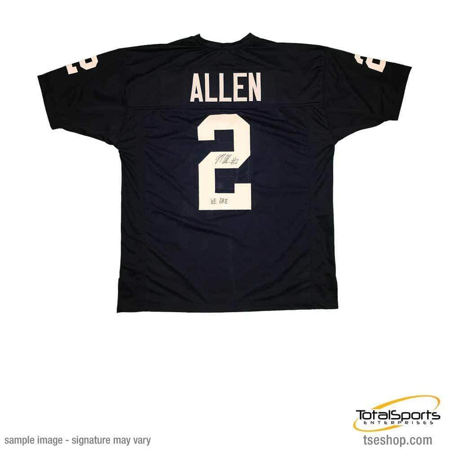 Signed NCAA Football Jerseys Marcus Allen Signed Custom Navy College Jersey with We Are
