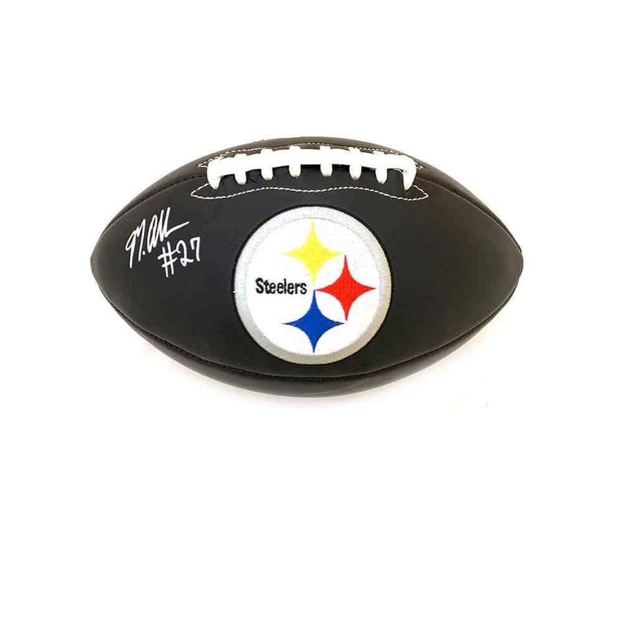 Marcus Allen Signed Pittsburgh Steelers Black Logo Football