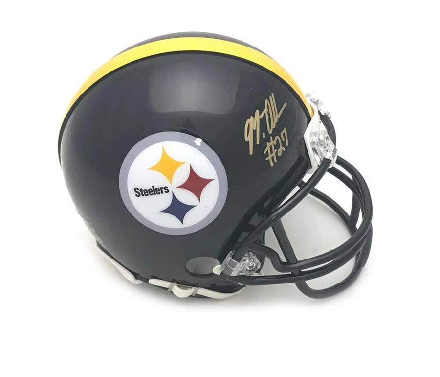 Signed STEELERS Mini Helmets Marcus Allen Signed Pittsburgh Steelers Black Mini Helmet