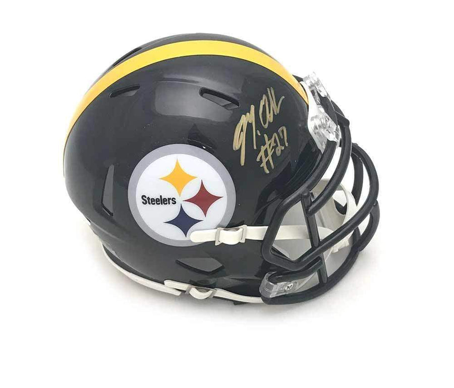Signed STEELERS Mini Helmets Marcus Allen Signed Pittsburgh Steelers Black SPEED Mini Helmet