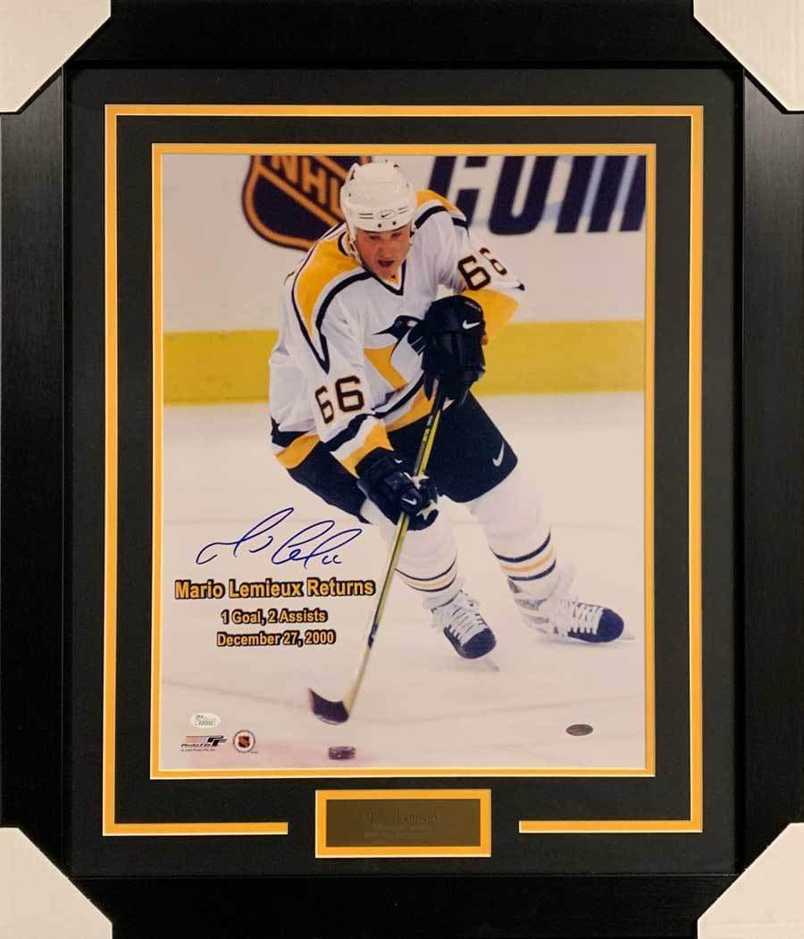 Mario Lemieux Signed Mario Returns 16x20 Photo - Professionally Framed Default Title