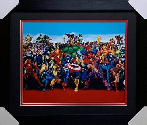 Marvel Cast Unsigned 16x20 Photo - Professionally Framed