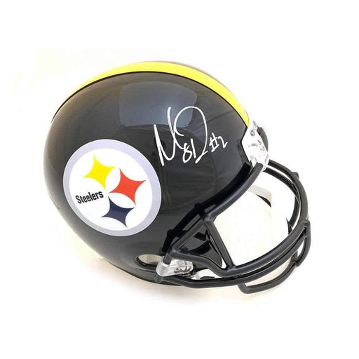 Mason Rudolph Signed Pittsburgh Steelers Black Full Size Replica Helmet