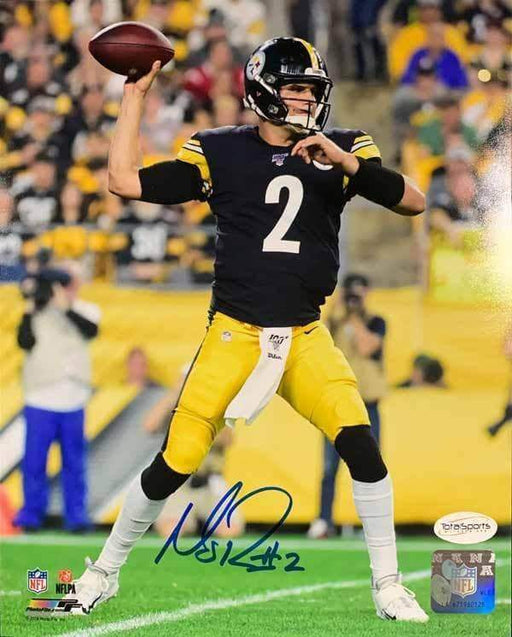 Mason Rudolph Signed Throwing 11x14 Photo