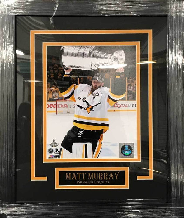 Matt Murray UNSIGNED Professionally Framed Raising Cup 8x10 Photo