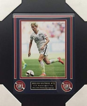 Megan Rapinoe Dribbling The Ball FRAMED 16x20 Photo - Unsigned