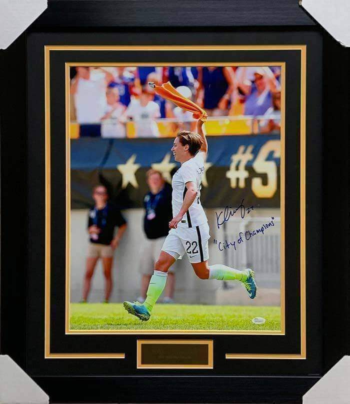 "Meghan Klingenberg Signed Waving Terrible Towel 16x20 with ""City of Champions"" - Professionally Framed"