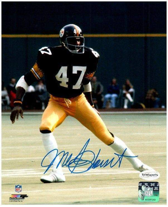 Mel Blount Autographed Breaking Right 16x20 Photo