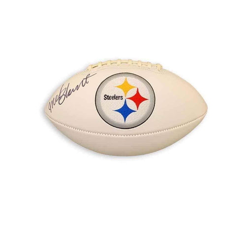 Mel Blount Autographed Pittsburgh Steelers White Logo Football - DAMAGED