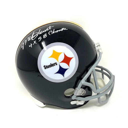Mel Blount Autographed Replica Throwback Helmet Inscribed '4X Sb Champs' - DAMAGED