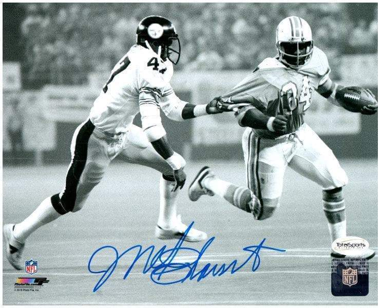 Mel Blount Autographed Tackling Earl Campbell 16x20 Photo