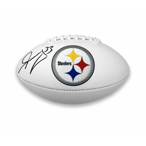 Merril Hoge Signed Pittsburgh Steelers White Logo Football