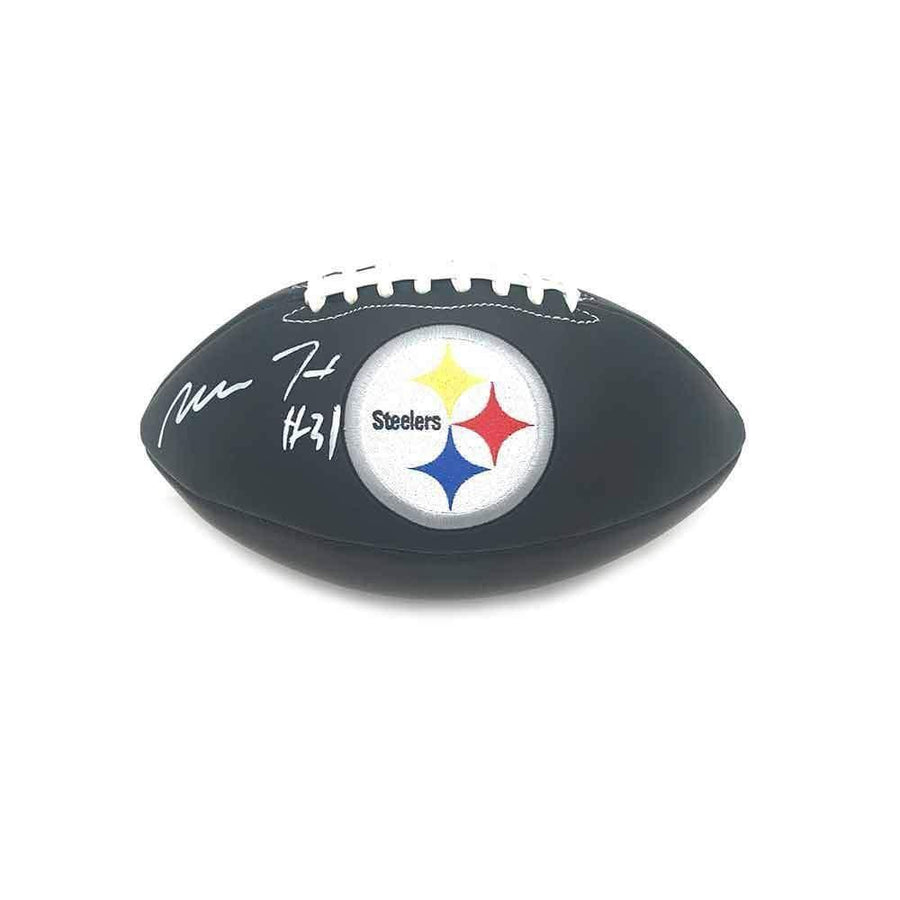 Mike Hilton Signed Pittsburgh Steelers Black Logo Football