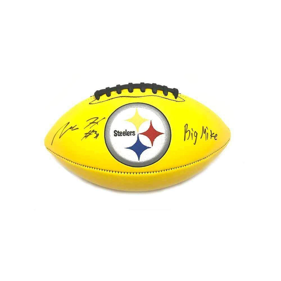 "Mike Hilton Signed Pittsburgh Steelers Yellow Logo Football with ""Big Mike"""