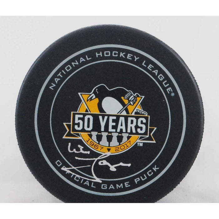 Mike Lange Autographed 50 Year Ann. Game Model Puck