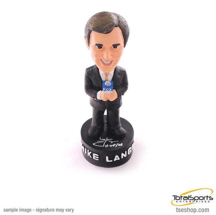 Mike Lange Autographed Fox Bobblehead with HOF '01 Inscription