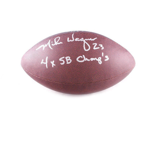 Mike Wagner Autographed Replica Football with 4X SB Champs