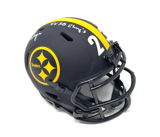 Mike Wagner Signed Pittsburgh Steelers ECLIPSE Mini Helmet with 4X SB Champs Inscription