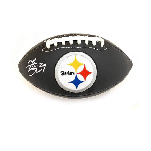 Minkah Fitzpatrick Autographed Pittsburgh Steelers Black Logo Football