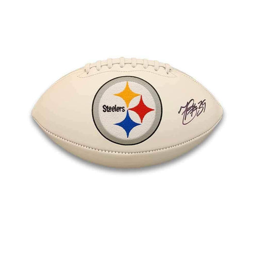 Minkah Fitzpatrick Autographed Pittsburgh Steelers White Logo Football