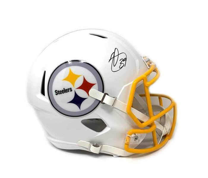 Minkah Fitzpatrick Autographed Pittsburgh Steelers WHITE MATTE SPEED Mini Helmet